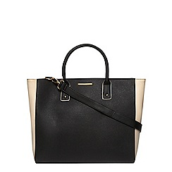 Dorothy Perkins - Black and bone oversized tote bag