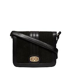 Dorothy Perkins - Black nora leather satchel