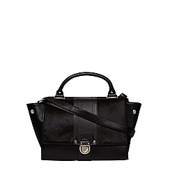 Dorothy Perkins - Black selena leather satchel
