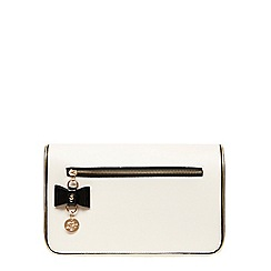 Dorothy Perkins - Black and bone zip clutch bag