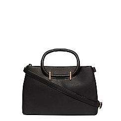 Dorothy Perkins - Black mini loop handle tote bag
