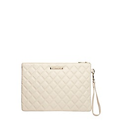 Dorothy Perkins - Nude quilted wristlet clutch bag