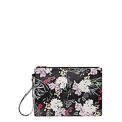 Dorothy Perkins - Floral wristlet clutch bag