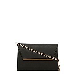 Dorothy Perkins - Black chain shoulder clutch bag
