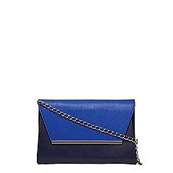 Dorothy Perkins - Blue mix chain shoulder clutch bag