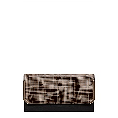 Dorothy Perkins - Grid angle bar clutch bag