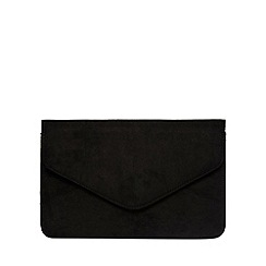 Dorothy Perkins - Black suedette clutch