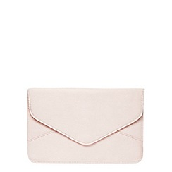 Dorothy Perkins - Blush suedette clutch
