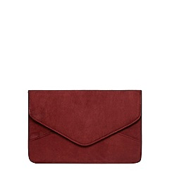 Dorothy Perkins - Wine suedette clutch