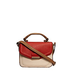 Dorothy Perkins - Red mix colour block satchel