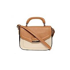 Dorothy Perkins - Tan mix colour block satchel