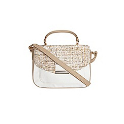 Dorothy Perkins - Tweed colour block satchel