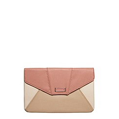 Dorothy Perkins - Rose mix panel clutch bag