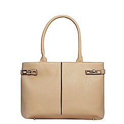 Dorothy Perkins - Neutral twistlock tote bag