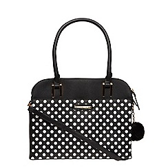 Dorothy Perkins - Black large spot tote bag