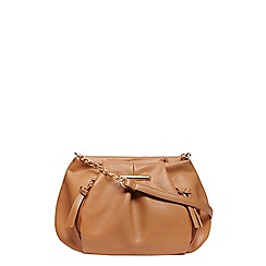 Dorothy Perkins - Tan soft zip pouch crossbody bag