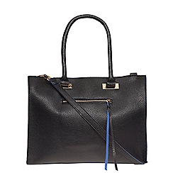 Dorothy Perkins - Black and blue soft tote bag