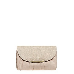 Dorothy Perkins - Nude pleat curve clutch bag