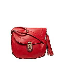 Dorothy Perkins - Red tassel saddle bag