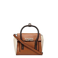 Dorothy Perkins - Tan mini foldover tote bag