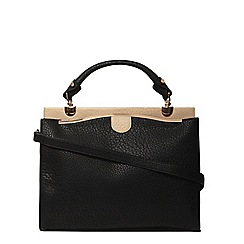 Dorothy Perkins - Black mix large triple tote bag