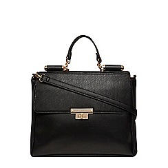 Dorothy Perkins - Black large roll bar tote bag