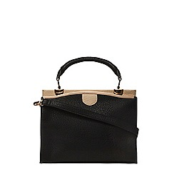 Dorothy Perkins - Black mix mini triple tote bag