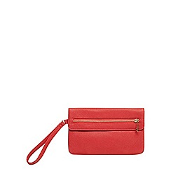 Dorothy Perkins - Red foldover wristlet bag