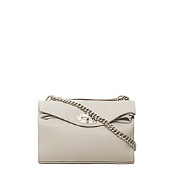 Dorothy Perkins - Grey soft foldover crossbody bag