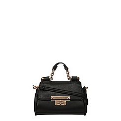 Dorothy Perkins - Black mini roll bar tote bag