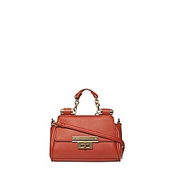 Dorothy Perkins - Orange mini roll bar tote bag