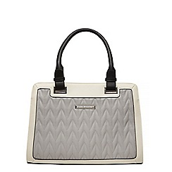 Dorothy Perkins - Grey quilted tote bag