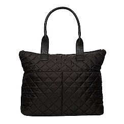 Dorothy Perkins - Black quilted nylon tote bag