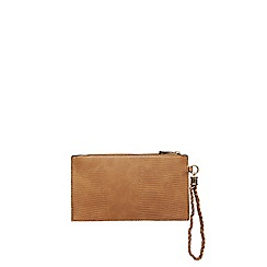 Dorothy Perkins - Tan lizard plait wristlet