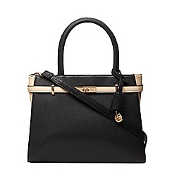 Dorothy Perkins - Black and bone belted tote bag
