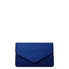 Dorothy Perkins - Blue faux suede clutch bag