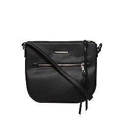 Dorothy Perkins - Black zip front crossbody bag