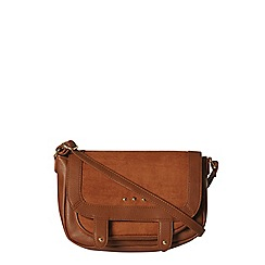 Dorothy Perkins - Tan stud messenger bag