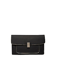 Dorothy Perkins - Black pocket front clutch bag