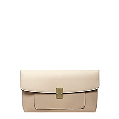 Dorothy Perkins - Nude pocket front clutch bag