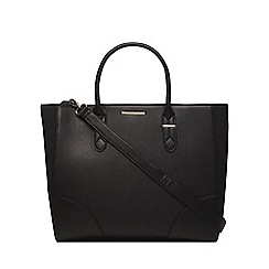 Dorothy Perkins - Black oversized curve tote bag
