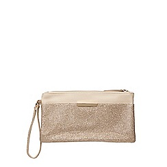 Dorothy Perkins - Gold glitter pocket wristlet bag