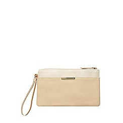 Dorothy Perkins - Nude mix bar pocket wristlet bag