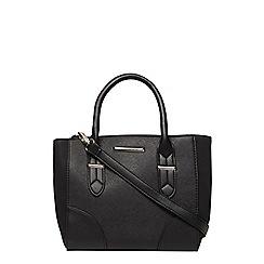 Dorothy Perkins - Black mini curve panel tote bag