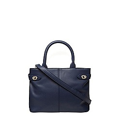 Dorothy Perkins - Navy mini twistlock tote bag