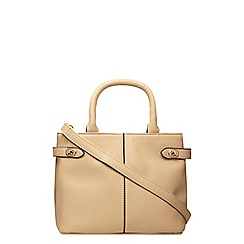 Dorothy Perkins - Nude mini twistlock tote bag