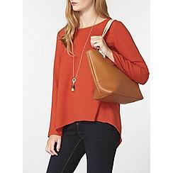 Dorothy Perkins - Tan and cream eyelet tote bag