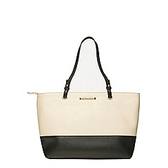 Dorothy Perkins - Black and bone eyelet tote bag