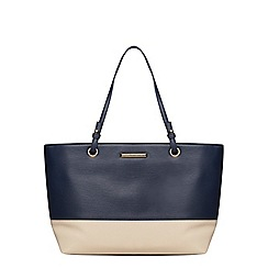 Dorothy Perkins - Navy and bone eyelet tote bag