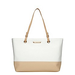 Dorothy Perkins - White and nude eyelet tote bag